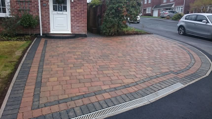 After - Driveway & Dropkerb using Marshall's Block with ACO Drains