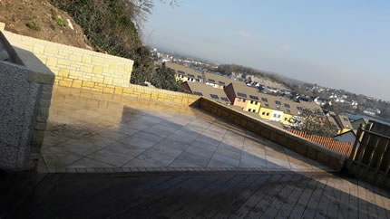 Tiled Patio - Cotswold Walls - after